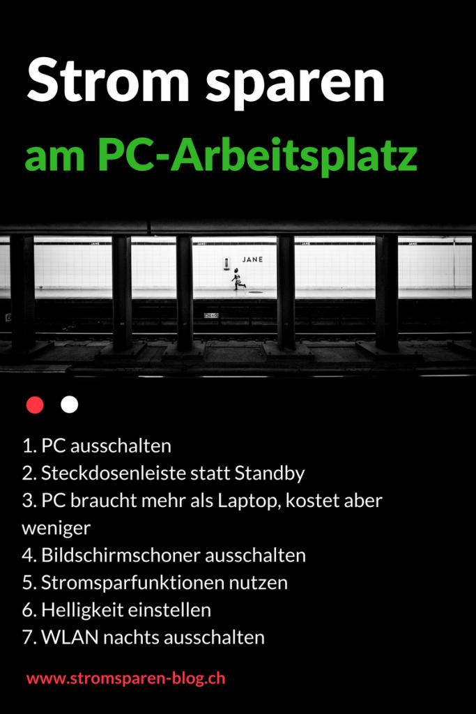 Stromsparen am PC-Arbeitsplatz